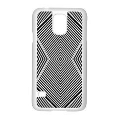 Black And White Line Abstract Samsung Galaxy S5 Case (white)