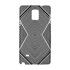 Black And White Line Abstract Samsung Galaxy Note 4 Hardshell Case by Nexatart