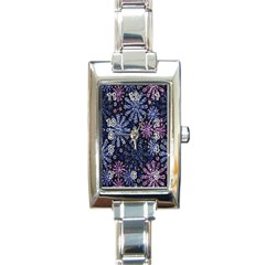 Pixel Pattern Colorful And Glittering Pixelated Rectangle Italian Charm Watch