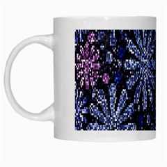 Pixel Pattern Colorful And Glittering Pixelated White Mugs by Nexatart