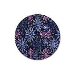 Pixel Pattern Colorful And Glittering Pixelated Magnet 3  (round) by Nexatart