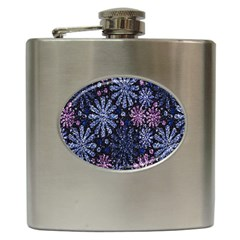 Pixel Pattern Colorful And Glittering Pixelated Hip Flask (6 Oz) by Nexatart