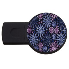 Pixel Pattern Colorful And Glittering Pixelated Usb Flash Drive Round (4 Gb) by Nexatart