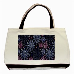 Pixel Pattern Colorful And Glittering Pixelated Basic Tote Bag by Nexatart