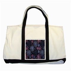 Pixel Pattern Colorful And Glittering Pixelated Two Tone Tote Bag by Nexatart