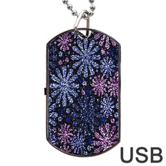 Pixel Pattern Colorful And Glittering Pixelated Dog Tag Usb Flash (two Sides) by Nexatart