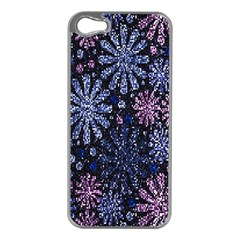 Pixel Pattern Colorful And Glittering Pixelated Apple Iphone 5 Case (silver)