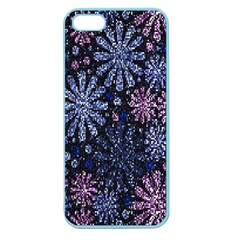 Pixel Pattern Colorful And Glittering Pixelated Apple Seamless Iphone 5 Case (color) by Nexatart