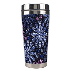 Pixel Pattern Colorful And Glittering Pixelated Stainless Steel Travel Tumblers by Nexatart