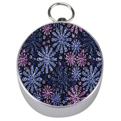 Pixel Pattern Colorful And Glittering Pixelated Silver Compasses