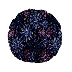 Pixel Pattern Colorful And Glittering Pixelated Standard 15  Premium Flano Round Cushions by Nexatart