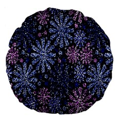 Pixel Pattern Colorful And Glittering Pixelated Large 18  Premium Flano Round Cushions by Nexatart