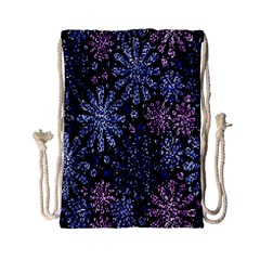 Pixel Pattern Colorful And Glittering Pixelated Drawstring Bag (small) by Nexatart