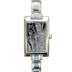 Abstract Swirling Pattern Background Wallpaper Rectangle Italian Charm Watch