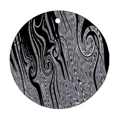 Abstract Swirling Pattern Background Wallpaper Ornament (round) by Nexatart