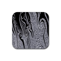 Abstract Swirling Pattern Background Wallpaper Rubber Square Coaster (4 Pack)  by Nexatart