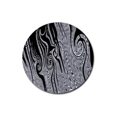 Abstract Swirling Pattern Background Wallpaper Rubber Round Coaster (4 Pack)