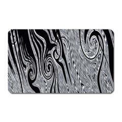Abstract Swirling Pattern Background Wallpaper Magnet (rectangular) by Nexatart