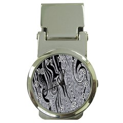 Abstract Swirling Pattern Background Wallpaper Money Clip Watches by Nexatart