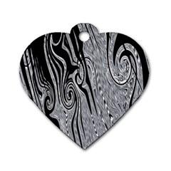 Abstract Swirling Pattern Background Wallpaper Dog Tag Heart (Two Sides)