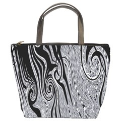 Abstract Swirling Pattern Background Wallpaper Bucket Bags by Nexatart