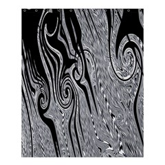 Abstract Swirling Pattern Background Wallpaper Shower Curtain 60  X 72  (medium)  by Nexatart