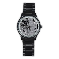 Abstract Swirling Pattern Background Wallpaper Stainless Steel Round Watch