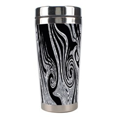 Abstract Swirling Pattern Background Wallpaper Stainless Steel Travel Tumblers by Nexatart