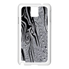 Abstract Swirling Pattern Background Wallpaper Samsung Galaxy Note 3 N9005 Case (white) by Nexatart