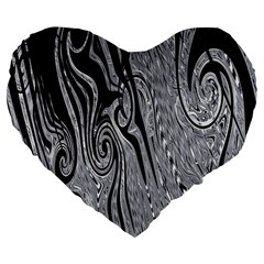 Abstract Swirling Pattern Background Wallpaper Large 19  Premium Flano Heart Shape Cushions by Nexatart