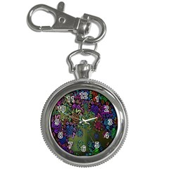 Grunge Rose Background Pattern Key Chain Watches by Nexatart