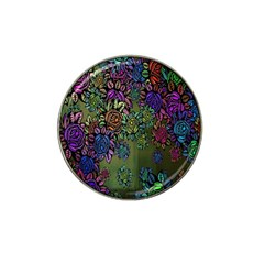 Grunge Rose Background Pattern Hat Clip Ball Marker (4 Pack) by Nexatart