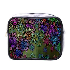 Grunge Rose Background Pattern Mini Toiletries Bags