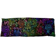 Grunge Rose Background Pattern Body Pillow Case Dakimakura (two Sides) by Nexatart