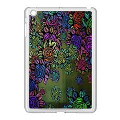 Grunge Rose Background Pattern Apple Ipad Mini Case (white)