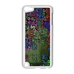 Grunge Rose Background Pattern Apple Ipod Touch 5 Case (white)