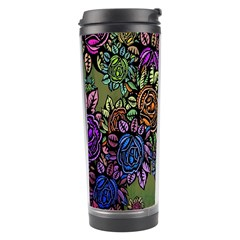 Grunge Rose Background Pattern Travel Tumbler