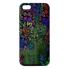 Grunge Rose Background Pattern Iphone 5s/ Se Premium Hardshell Case