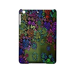 Grunge Rose Background Pattern Ipad Mini 2 Hardshell Cases