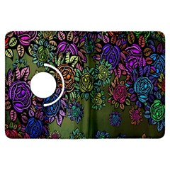 Grunge Rose Background Pattern Kindle Fire Hdx Flip 360 Case by Nexatart