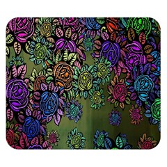 Grunge Rose Background Pattern Double Sided Flano Blanket (small)  by Nexatart