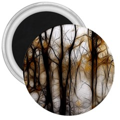 Fall Forest Artistic Background 3  Magnets by Nexatart