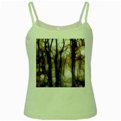 Fall Forest Artistic Background Green Spaghetti Tank