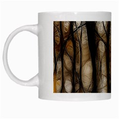 Fall Forest Artistic Background White Mugs by Nexatart