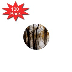 Fall Forest Artistic Background 1  Mini Magnets (100 Pack)  by Nexatart