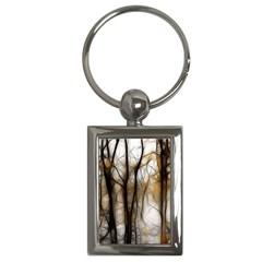 Fall Forest Artistic Background Key Chains (rectangle)  by Nexatart