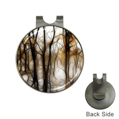 Fall Forest Artistic Background Hat Clips With Golf Markers by Nexatart