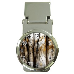 Fall Forest Artistic Background Money Clip Watches by Nexatart