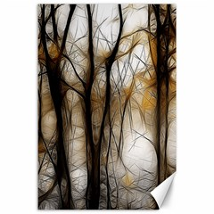 Fall Forest Artistic Background Canvas 24  X 36  by Nexatart