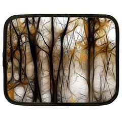 Fall Forest Artistic Background Netbook Case (large) by Nexatart